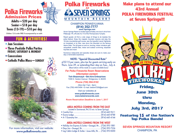2017 Polka Fireworks Flyer